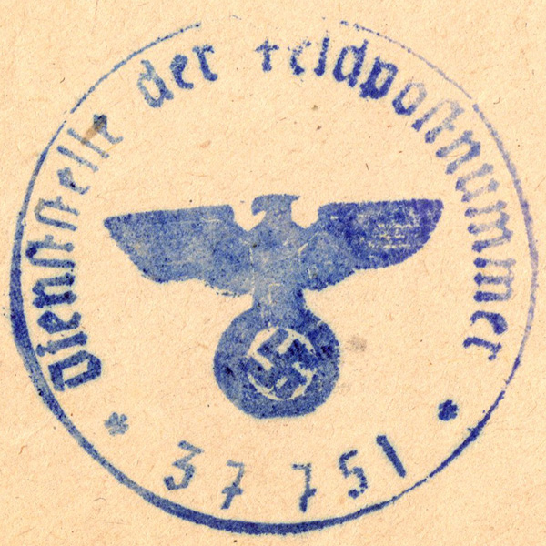 Original WWII German Document Stamps