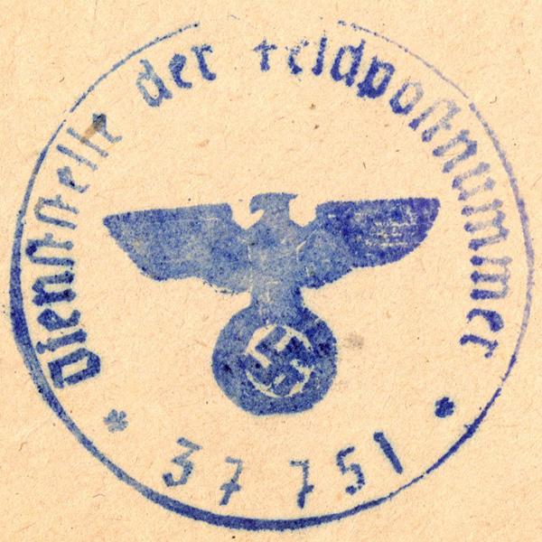 Original WWII German Document Stamps
