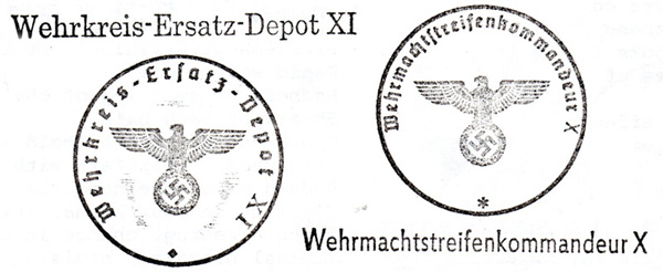 In Trenches Ww2 German Rubber Stamps
